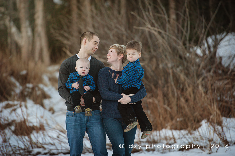 anchorage ak family winter photographer