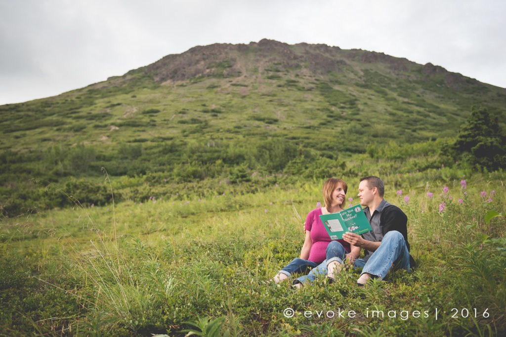 anchorage alaska mountain maternity images