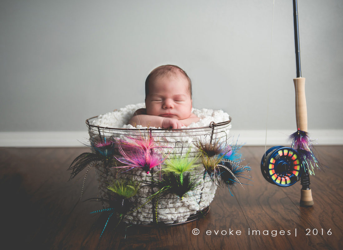 newborn composite image in studio