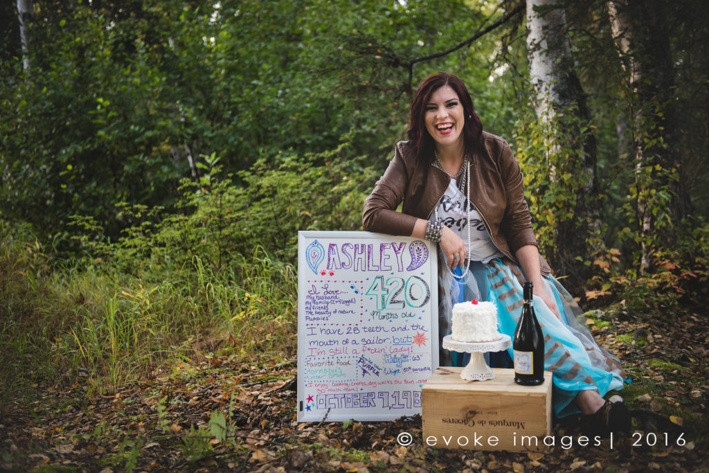 anchorage grownup cake smash photography