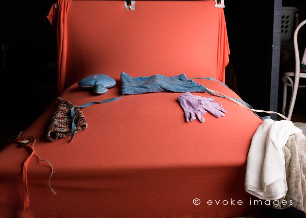 behind the scenes baby photography tips newborn bean bag setup
