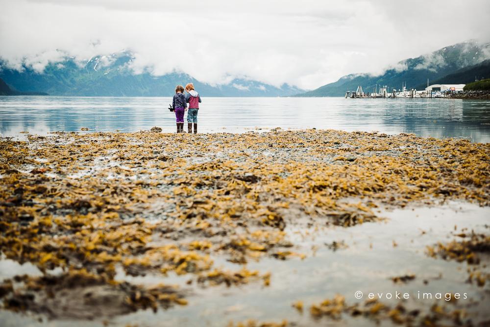 Whittier Alaska coast beach water docks