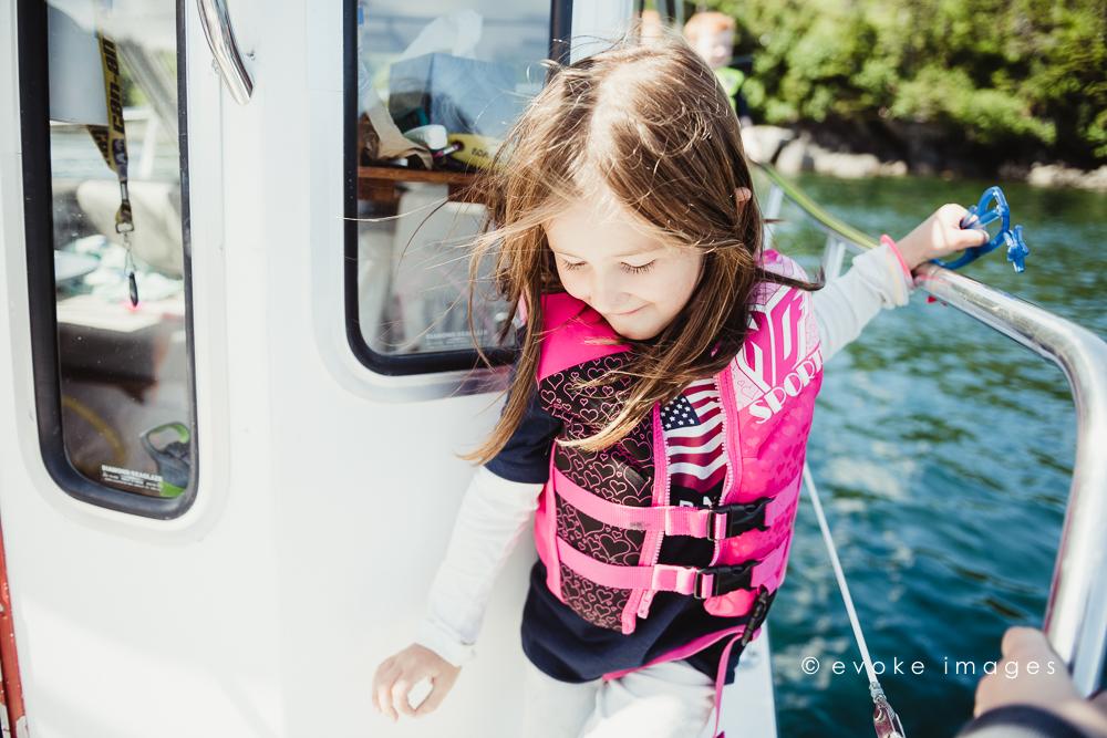 kids on a boat life jacket alaska prince William sound