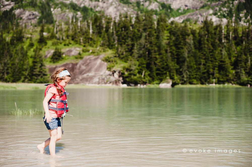 little girl at the beach alaska family photography mountains