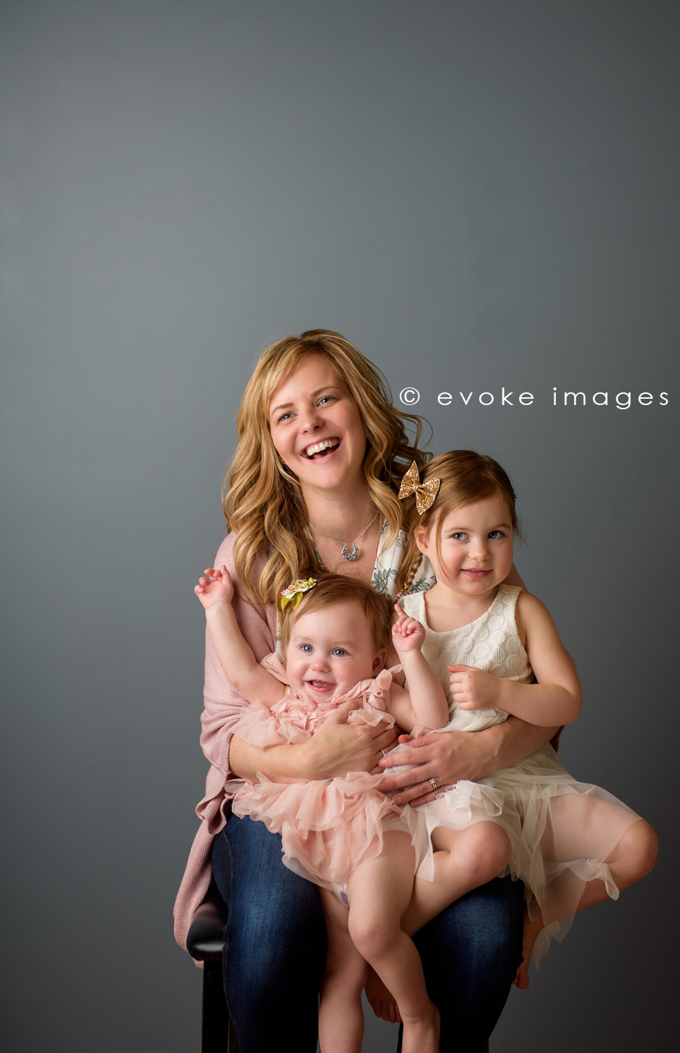 outtake mom and girls real life studio photography