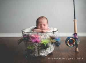 newborn composite image in studio